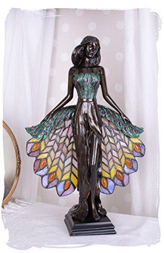 Glamourse-Tischleuchte-kleine-Leuchte-Schreibtischlampe-Schreibtischleuchte-Tischlampe-einer-Frauenfigur-im-Jugendstil-mit-einzigartigem-Tiffany-Lampenschirm-Palazzo-Exclusive-0