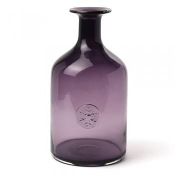 IVARY-INSPIRATION-Glas-Vase-Bottle-Flasche-185-x-185-x-33-cm-klar-lila-0