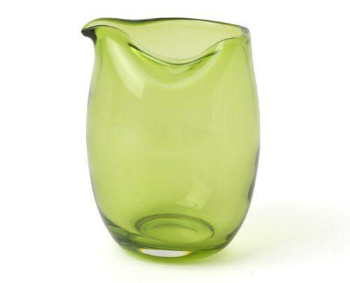 IVARY-INSPIRATION-Glas-Vase-mit-eingedrckter-ffnung-15-x-15-x-205-cm-klar-gelb-grn-0