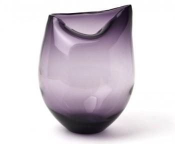 IVARY-INSPIRATION-Glas-Vase-mit-eingedrckter-ffnung-215-x-215-x-275-cm-klar-lila-0