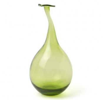 IVARY-INSPIRATION-Glas-Vase-mit-gedrehtem-Hals-19-x-19-x-37-cm-klar-gelb-grn-0