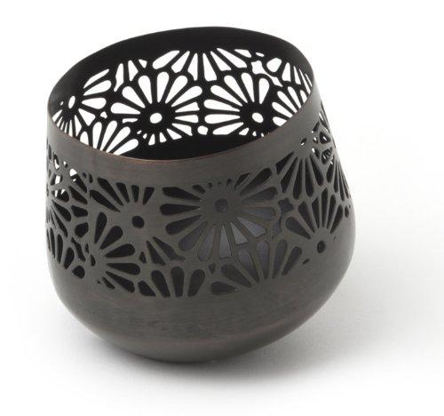 ivary metall teelichthalter schr g mit gestanztem. Black Bedroom Furniture Sets. Home Design Ideas