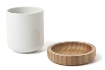 IVARY-Teetasse-mit-Untersetzer-Porzellan-mit-Bambus-Holz-7-x-8-cm-rechteckig-wei-braun-0
