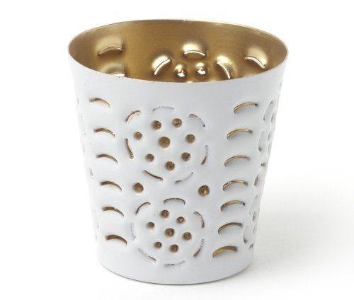 IVARY-VOTIV-Metall-Teelichthalter-in-Lochoptik-mit-Kreis-rund-7-x-7-cm-wei-gold-0