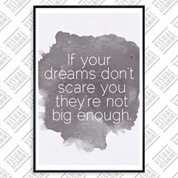 If-your-dreams-dont-scare-you-they-are-not-big-enough-Visual-Vitamins-Poster-Top-Qualitt-Schweres-200gqm-Glossy-Fotopapier-Motivation-und-Inspiration-914-x-61-cm-0