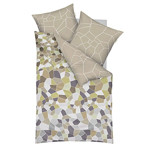 kaeppel mako satin bettw sche infinity khaki 155x220 cm. Black Bedroom Furniture Sets. Home Design Ideas