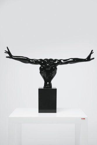Kare-69419-Deko-Athlet-85-x-48-x-28-cm-Fiberglas-Marmor-schwarz-0