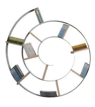 Kare-70755-Wandregal-SNAIL-75x75x13-cm-silber-0
