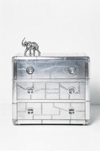 kare design kommode soho mit 3 schubladen aluminium online kaufen bei woonio. Black Bedroom Furniture Sets. Home Design Ideas