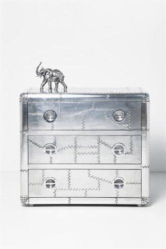 kare design kommode soho mit 3 schubladen aluminium online. Black Bedroom Furniture Sets. Home Design Ideas