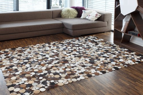 LederTeppich CIRCLE COUNTRY braun, L 240 x B 170 cm