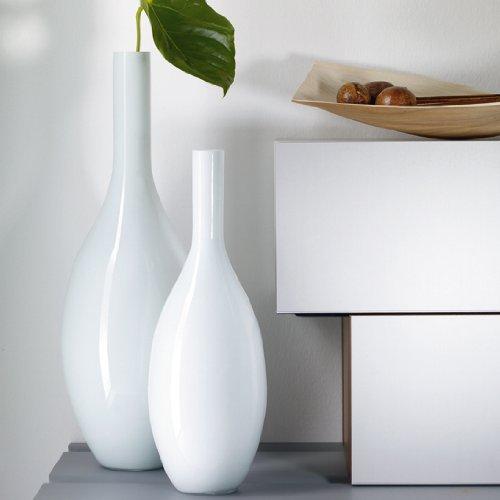 leonardo beauty glass vase contemporary 50cm high tall white bottle shaped vase for flowers or. Black Bedroom Furniture Sets. Home Design Ideas