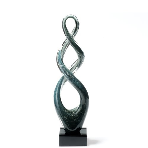 Leonardo-064110-Skulptur-Turn-49-cm-grau-schwarz-0