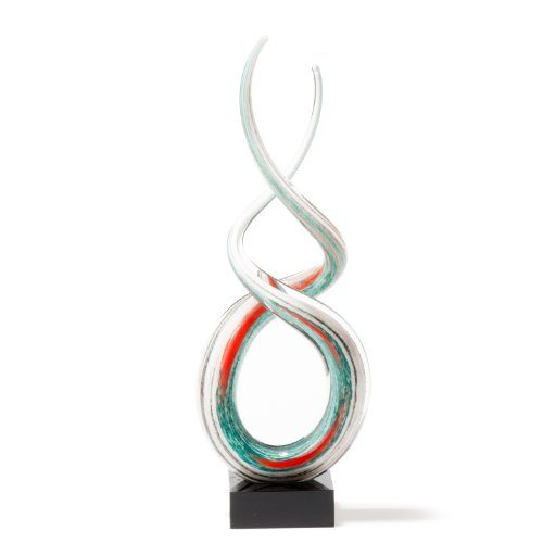 Leonardo-064114-Skulptur-Rotate-38-cm-wei-trkis-0