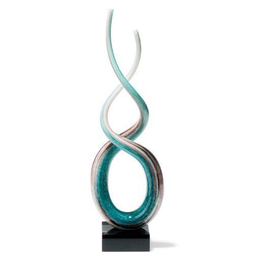 Leonardo-064115-Skulptur-Rotate-48-cm-wei-trkis-0