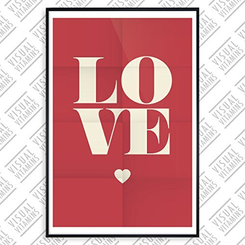 posterhouse24 ph114a1 motivation poster love liebe 235g premium satin fotopapier 61 x 91 5 cm. Black Bedroom Furniture Sets. Home Design Ideas