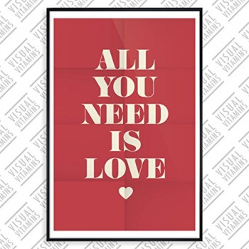 Love-is-all-you-need-Visual-Vitamins-Poster-Top-Qualitt-Schweres-200gqm-Glossy-Fotopapier-Motivation-und-Inspiration-914-x-61-cm-0