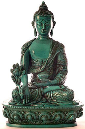 medizinbuddha buddha statue resin t rkis 20 cm hoch online kaufen bei woonio. Black Bedroom Furniture Sets. Home Design Ideas