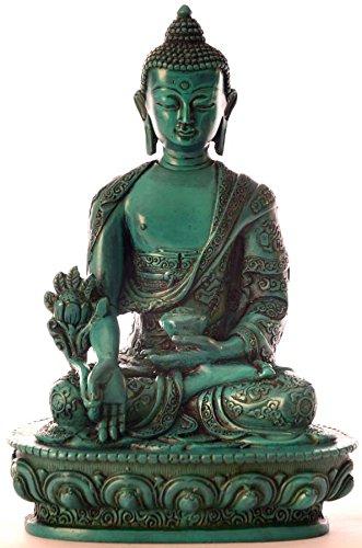 medizinbuddha buddha statue resin t rkis 20 cm hoch online kaufen bei woonio. Black Bedroom Furniture Sets. Home Design Ideas