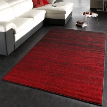 Kurzflor teppich rot