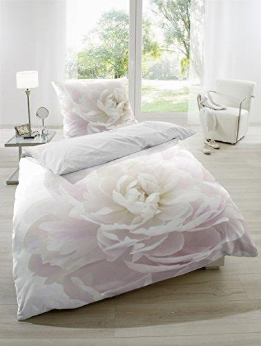 satin bettw sche baumwolle digitaldruck in rosa 155x220 80x80 cm online kaufen bei woonio. Black Bedroom Furniture Sets. Home Design Ideas