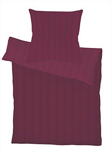 Schlafgut-Select-Uni-Satin-Bettwsche-2-teilig-100-Mako-Baumwolle-mit-eleganten-Schattenstreifen-Grsse-155-x-220-cm-Hrtegrad-313-Burgundrot-0