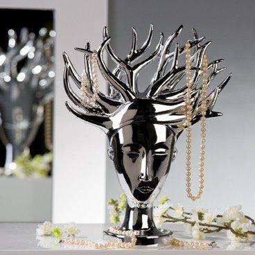 schmuckhalter schmuckbaum mit schale beauty silber. Black Bedroom Furniture Sets. Home Design Ideas
