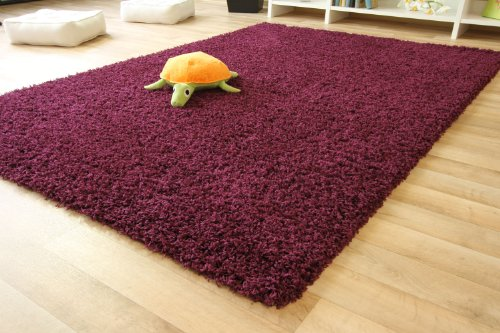 shaggy rug funny purple thick soft pile 200x290 cm 6ft 6 x 9ft 7 12 sizes available. Black Bedroom Furniture Sets. Home Design Ideas