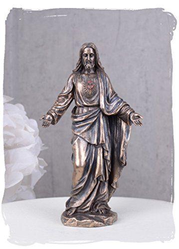 Skulptur-Figur-Bste-Statue-Statuette-des-Jesus-von-Nazaret-Christus-mit-Lamm-aus-Keramikmasse-mit-Handbemalung-Palazzo-Exklusive-0