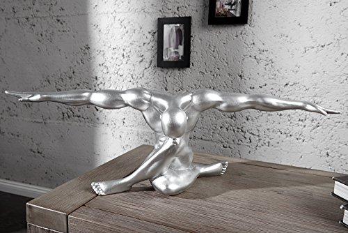 Statue Muskel Athlet BOLT silber 62cm Sportler Pose Deko Figur Dekoration  online kaufen bei WOONIO