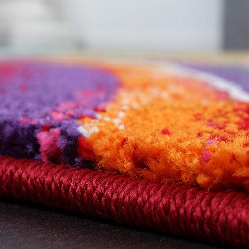 Teppich Modern Designer Teppich Bunter Farbmix Gemustert