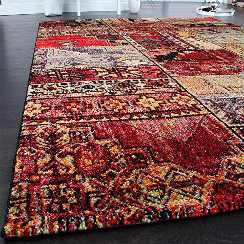 teppich modern designer teppich patchwork kilim design multicolour gr n rot blau gr sse 200x290. Black Bedroom Furniture Sets. Home Design Ideas