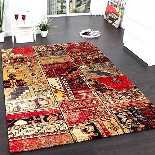 teppich modern designer teppich patchwork kilim design multicolour gr n rot blau gr sse 200x290. Black Bedroom Furniture Sets. Home Design Ideas
