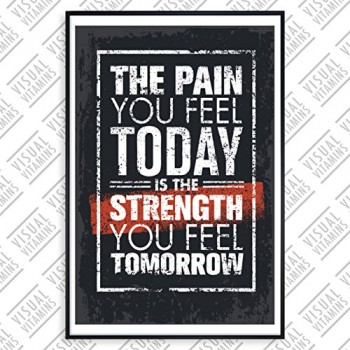 The-pain-you-feel-today-is-the-strength-you-feel-tomorrow-Visual-Vitamins-Poster-Top-Qualitt-Schweres-200gqm-Glossy-Fotopapier-Motivation-und-Inspiration-914-x-61-cm-0