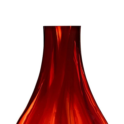 Bodenvase Rot vase bodenvase blumenvase quot quot rot orange h 55cm handgeformte und mundgeblasene
