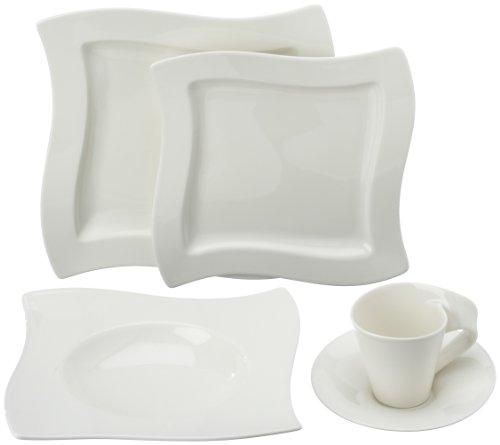 villeroy boch new wave 30 piece basic dinnerware set white online kaufen bei woonio. Black Bedroom Furniture Sets. Home Design Ideas