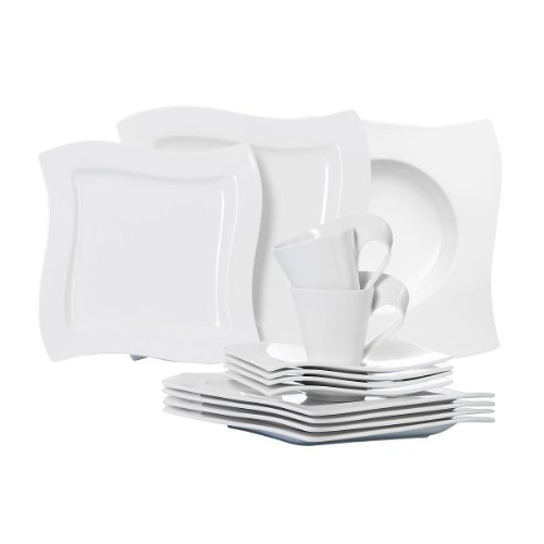 villeroy boch new wave 30 piece basic dinnerware set white online kaufen bei woonio. Black Bedroom Furniture Sets. Home Design Ideas