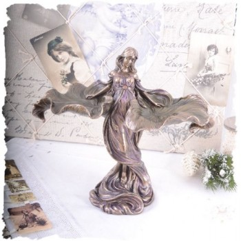 Vintage-Frauenfigur-tanzende-Jugendstil-Nymphe-Shabby-Chic-Dekoration-PALAZZO-EXCLUSIVE-0