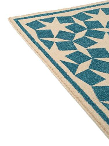 benuta teppiche teppich anis blau 200x290 cm. Black Bedroom Furniture Sets. Home Design Ideas