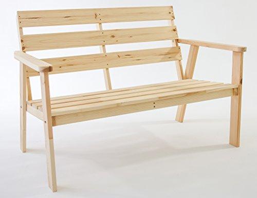 ambientehome gartenbank 2 sitzer bank massivholz holzbank. Black Bedroom Furniture Sets. Home Design Ideas