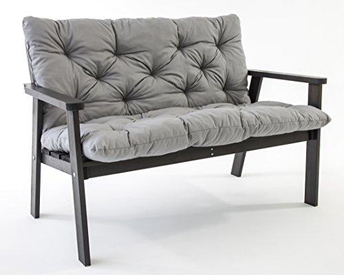 ambientehome gartenbank 2er bank massivholz holzbank inkl kissen hanko taupegrau online kaufen. Black Bedroom Furniture Sets. Home Design Ideas