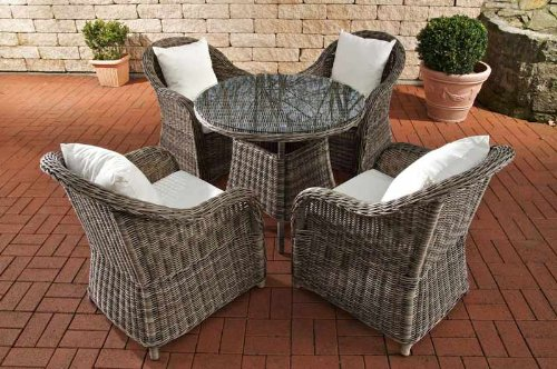 clp poly rattan luxus garten sitzgruppe farsund grau. Black Bedroom Furniture Sets. Home Design Ideas