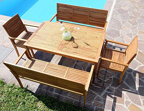 edle gartengarnitur gartenset gartenm bel garten sitzgruppe saria xxl holz akazie wie teak von. Black Bedroom Furniture Sets. Home Design Ideas