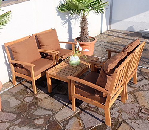 edles garten sofa set lounge gartengarnitur gartenset gartenm bel sitzgruppe palma l holz akazie. Black Bedroom Furniture Sets. Home Design Ideas
