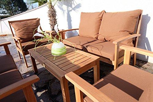 Lounge sofa garten holz  Edles Garten Sofa Set Lounge Gartengarnitur Gartenset Gartenmöbel ...