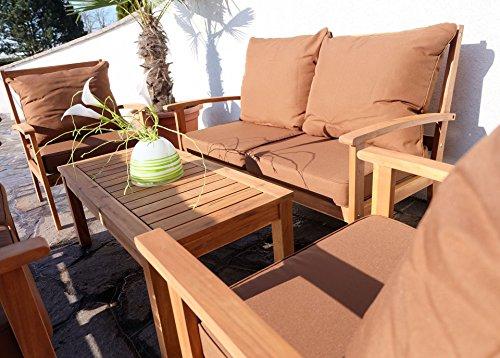 edles garten sofa set lounge gartengarnitur gartenset gartenm bel sitzgruppe palma xxl holz. Black Bedroom Furniture Sets. Home Design Ideas