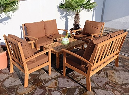edles garten sofa set lounge gartengarnitur gartenset gartenm bel sitzgruppe palma xxl holz. Black Bedroom Furniture Sets. Home Design Ideas