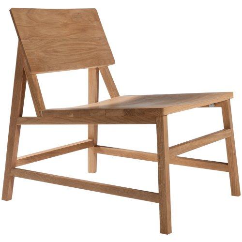 Ethnicraft 50686 n chair n2 design stuhl lounge eiche for Design lounge stuhl