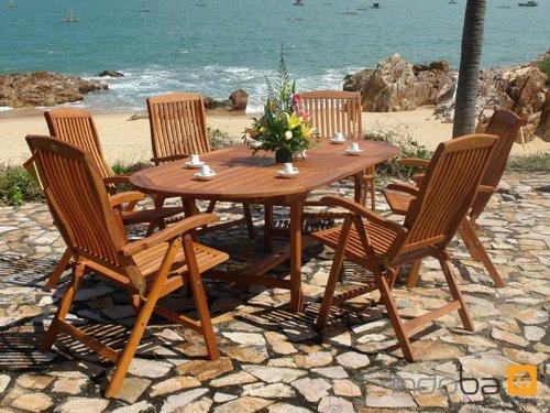 indoba® IND-70010-SFSE7 - Serie Sun Flair - Gartenmöbel Set 7-teilig ...
