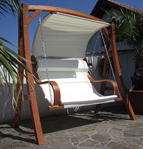 ambientehome hollywoodschaukel 3 sitzer holzschaukel schaukel massivholz inkl kissen vetlanda. Black Bedroom Furniture Sets. Home Design Ideas
